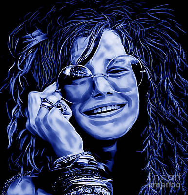 Janis Joplin Collection Art Print