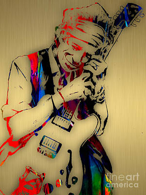 The Rock Mixed Media - Keith Richards Collection by Marvin Blaine