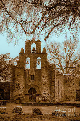 Photograph - Mission Espada  by Iris Greenwell