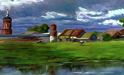 Nature Painting - Nature Oil Canvas Landscape by Edna Wallen