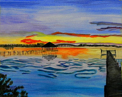 Gods Sunshine Art Painting - Sunrise / Sunset / Indian River by MGilroy