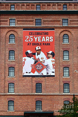 Photograph - 25 Years At Oriole Park Camden Yards by James Brunker