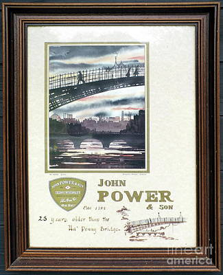 Painting - 25 Years Older Than The Hapenny Bridge by Val Byrne