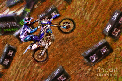 Photograph - 250 Supercross Colt Nichols by Blake Richards