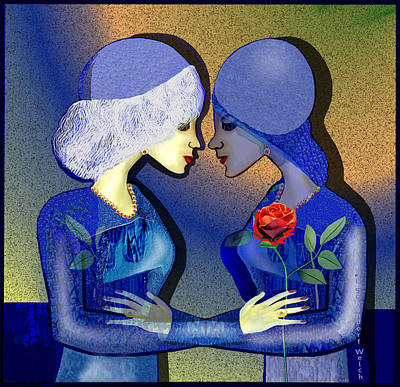 Digital Art - 2505 Friendship 2017 by Irmgard Schoendorf Welch
