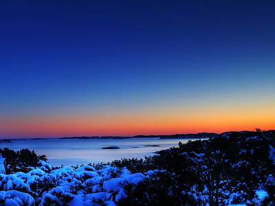 25059 Travel Sunset Over Southern Norway  Art Print