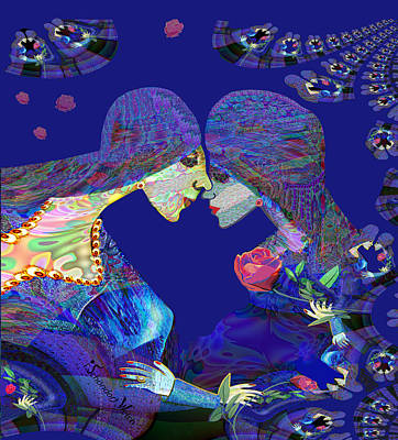 Digital Art - 2506 Closeness A by Irmgard Schoendorf Welch