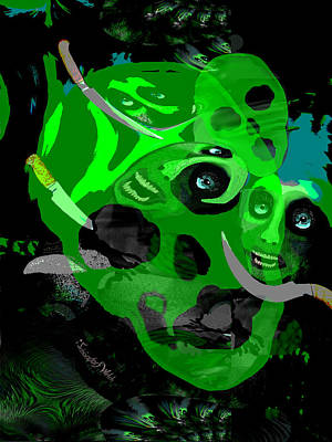 Digital Art - 2507   Evil 2017  A by Irmgard Schoendorf Welch