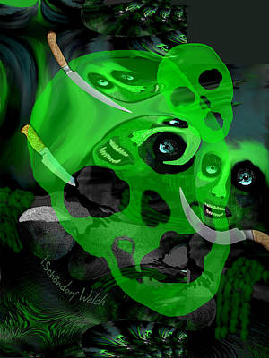 Digital Art - 2507 The Evil A by Irmgard Schoendorf Welch
