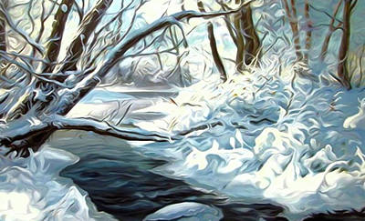 Summer Painting - Nature Landscape Jobs by Edna Wallen
