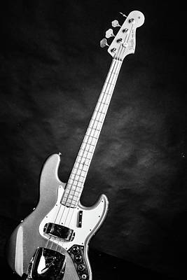 Photograph - 251.1834 Fender 1965 Jazz Bass Black And White by M K Miller