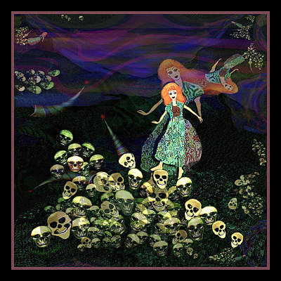 Digital Art - 2516  Walking In The Kingdom Of Death A by Irmgard Schoendorf Welch