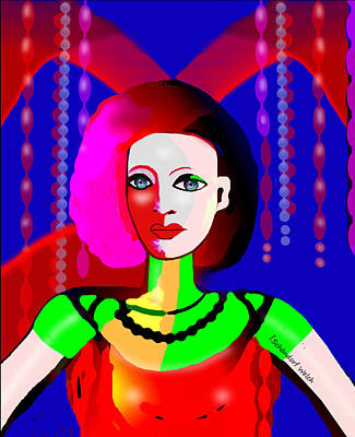 Digital Art - 2519 Image Of A Lady 2017 by Irmgard Schoendorf Welch