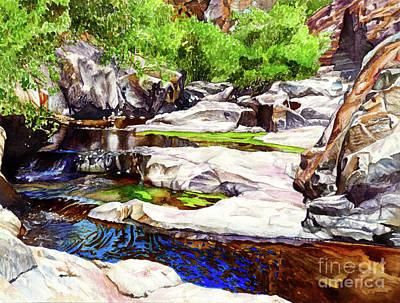 Lums Painting - #252 Hidden Falls by William Lum