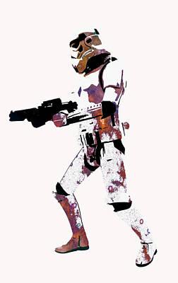 Robots Digital Art - Star Wars by Elena Kosvincheva