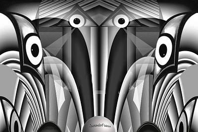 Digital Art - 2524 A Fractal A by Irmgard Schoendorf Welch