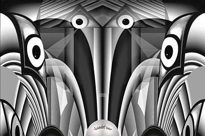 Digital Art - 2524 Fractal V by Irmgard Schoendorf Welch