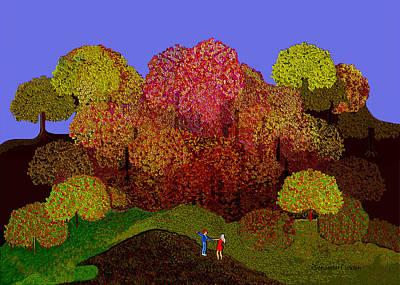 Digital Art - 2529 Joy Of Autumn  A by Irmgard Schoendorf Welch