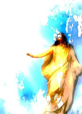 Jesus Christ Digital Art - Jesus Christ - Religious Art by Elena Kosvincheva