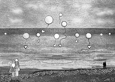 Digital Art - 2542 Balloons 2017 by Irmgard Schoendorf Welch
