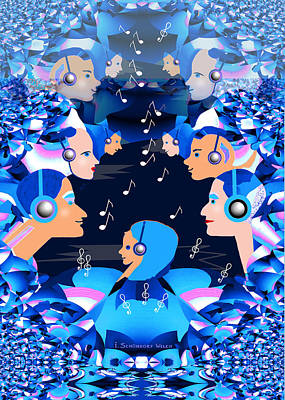 Digital Art - 2547 Listen To The Music A by Irmgard Schoendorf Welch