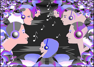 Digital Art - 2548  Listen To The Music A by Irmgard Schoendorf Welch