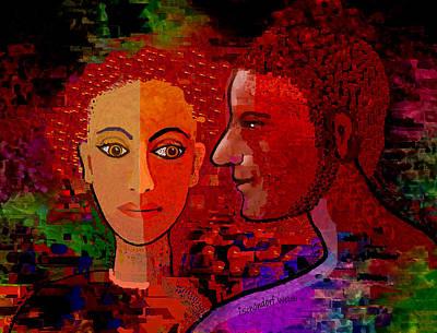 Digital Art - 2549 Lovers 2018 V by Irmgard Schoendorf Welch