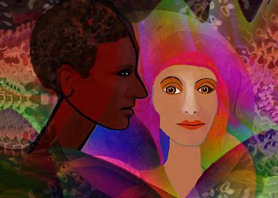 Digital Art - 2550 Memory Of An Unforgotten Love A by Irmgard Schoendorf Welch