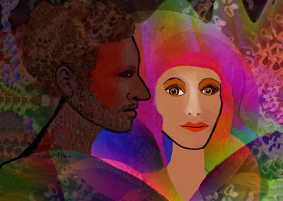 Digital Art - 2550  Memory Of An Unforgotten Love V by Irmgard Schoendorf Welch