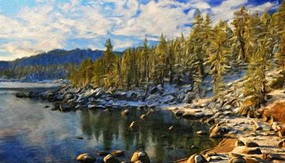 Summer Painting - Nature Landscape Pictures by Margaret J Rocha