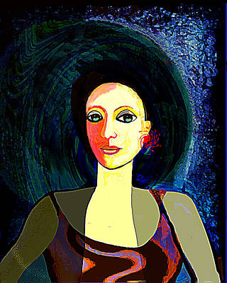 Digital Art - 2578 Portrait Of A Young  Lady 2017 V by Irmgard Schoendorf Welch