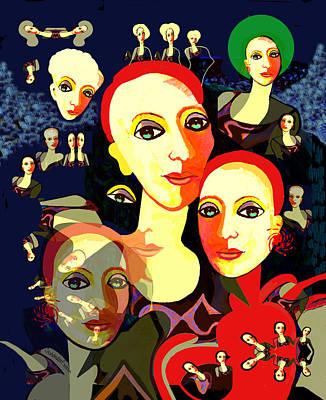 Digital Art - 2579 Women 2017 V by Irmgard Schoendorf Welch