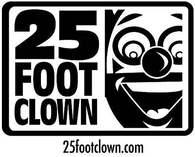 Drawing - 25footclown Logo by Christopher Capozzi