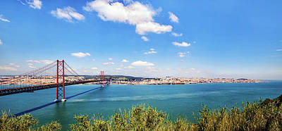 Photograph - 25th April Bridge Lisbon by Marion McCristall