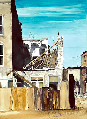 Art Print featuring the painting 25th. Street by Douglas Teller
