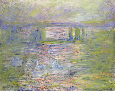 Train Crossing Painting - Charing Cross Bridge by Claude Monet