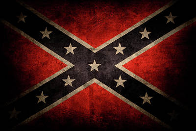 Photograph - Confederate Flag 3 by Les Cunliffe