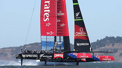 Sausalito Photograph - Emirates Team New Zealand by Steven Lapkin
