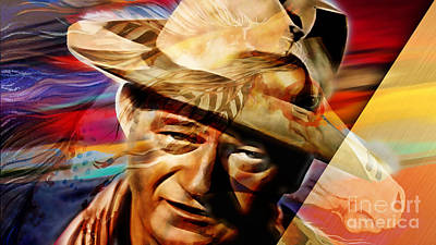 Mixed Media - John Wayne Collection by Marvin Blaine