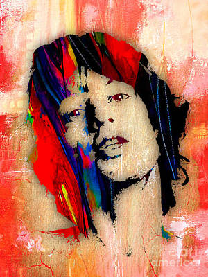 Lead Singer Mixed Media - Mick Jagger Collection by Marvin Blaine