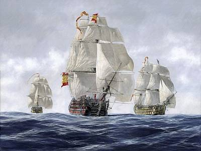 Fantasy Digital Art - Ship by Super Lovely