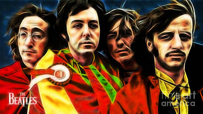 Rock Mixed Media - The Beatles Collection by Marvin Blaine