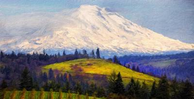 Autumn Painting - Types Of Landscape Nature by Margaret J Rocha