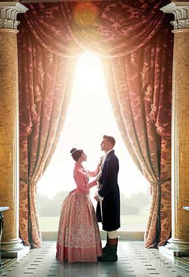 Photograph - Victorian Couple by Lee Avison