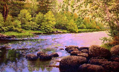 Oil Painting - Nature Landscape Jobs by Edna Wallen