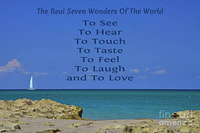 Photograph - 260- The Real Seven Wonders by Joseph Keane