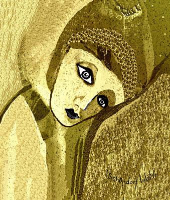 Digital Art - 2619 Sad Girl 2018 by Irmgard Schoendorf Welch
