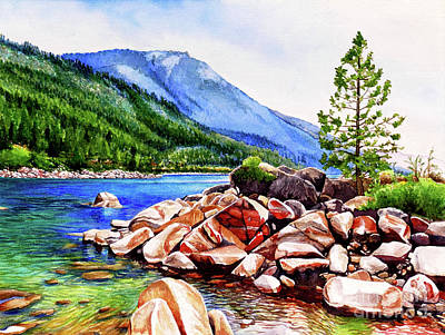Lums Painting - #262 Crystal Bay 1 by William Lum