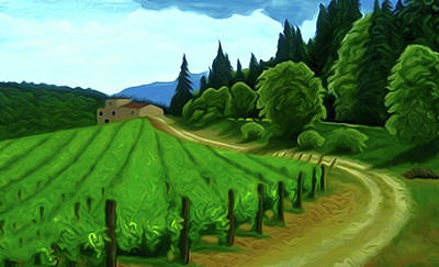 Outdoors Painting - Nature Landscape Art by Edna Wallen