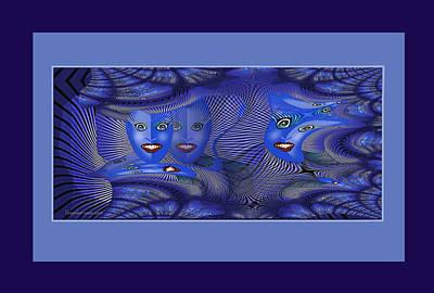 Digital Art - 2623 Madman Blues Fractal 2018 by Irmgard Schoendorf Welch